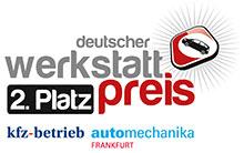 Deutscher Werkstattpreis 2016 Gewinnerlogo Platz 2 klein